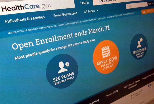 FILE - This March 1, 2014 file photo shows part of the website for HealthCare.gov, photographed in Washington. Management failures by the Obama administration set the stage for the computer woes that paralyzed the president's new health care program last fall, nonpartisan investigators said in testimony released Wednesday. After a months-long investigation, the Government Accountability Office found that the administration lacked