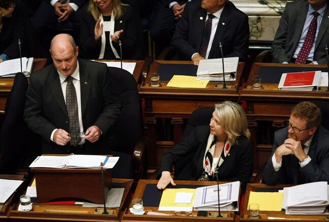 B.C. Finance Minister Mike de Jong is pictured, June 27, 2013 in Victoria, B.C. THE CANADIAN PRESS/Chad Hipolito