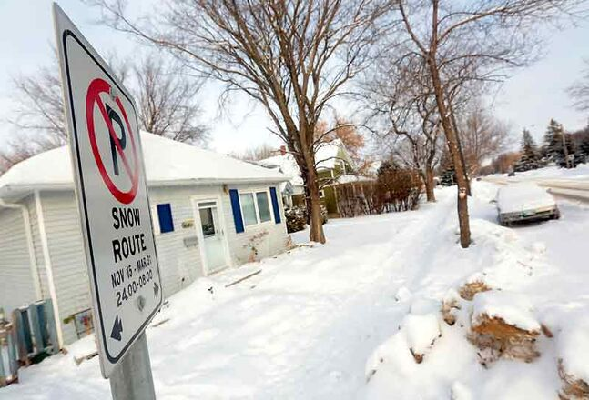 The city is reminding residents of the snow route parking ban which allows city workers access for snow removal on residential streets.