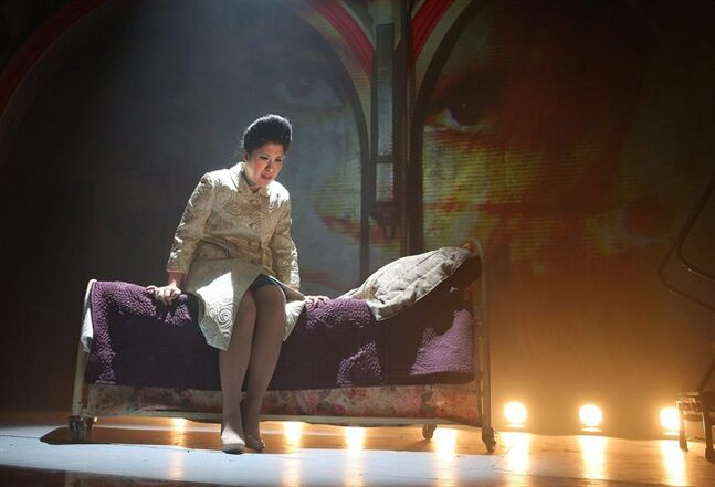 This image released by The O and M Co. shows Ruthie Ann Miles as Imelda Marcos in