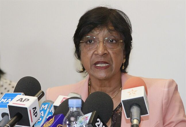 U.N. Human Rights Commissioner Navi Pillay is pictured in Rabat, Morocco, May 29, 2014. THE CANADIAN PRESS/AP, Paul Schemm