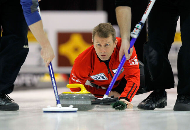 Top seeded Jeff Stoughton is rolling right along at the provincials championships.