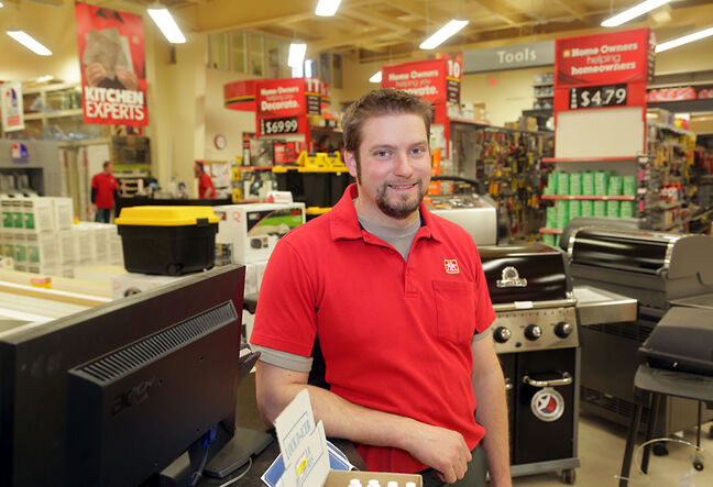 Brandon Home Hardware Building Centre's Trevor Kowalchuk is one of eight recipients of the North American Retail Hardware Association's young retailer of the year award.
