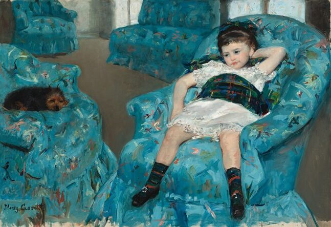 This image provided by the National Gallery of Art shows Mary Cassatt's 1978 oil painting