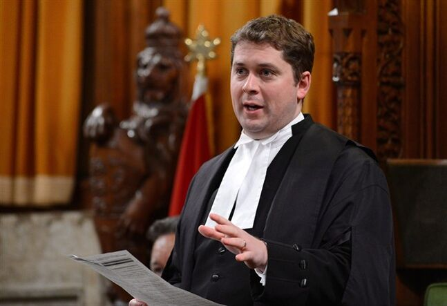 Speaker of the House of Commons Andrew Scheer speaks in the House of Commons on Parliament Hill in Ottawa on Monday, April 22, 2013. Scheer is appealing to government and opposition MPs alike to change the nasty, partisan and uninformative tone of question period. THE CANADIAN PRESS/Sean Kilpatrick