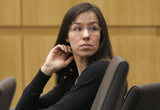 FILE - Im this Jan. 9, 2013 file photo, Jodi Arias appears for her trial in Maricopa County Superior court in Phoenix. A judge ruled in an order made public Tuesday, May 27, 2014, that Arias' upcoming retrial will not be televised live as occurred during her first trial. The 33-year-old former waitress was convicted of first-degree murder in May for the 2008 killing of her one-time boyfriend in Arizona, but jurors couldn't reach a decision on a sentence. (AP Photo/Matt York, File)