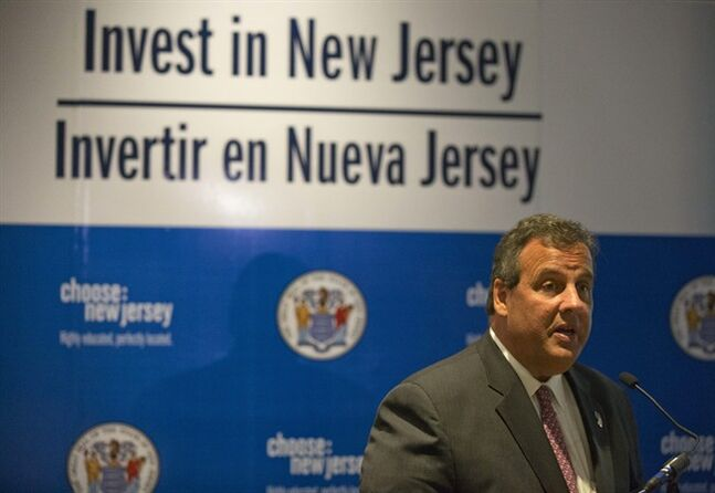 New Jersey Gov. Chris Christie speaks at a gathering promoting New Jersey for foreign business investment in Mexico City, Wednesday, Sept. 3, 2014. New Jersey exports $2 billion worth of goods to Mexico, and tens of thousands of New Jersey jobs rely on the relationship. (AP Photo/Rebecca Blackwell)