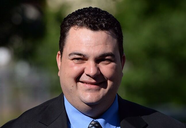 MP Dean Del Mastro arrives at court in Peterborough, Ont., on Monday June 23, 2014. The lawyer for former Conservative MP Dean Del Mastro is trying to undermine the credibility of the Elections Canada investigator who led the case against his client.THE CANADIAN PRESS/Sean Kilpatrick