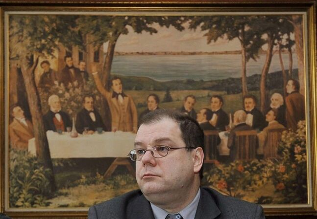 Mario Beaulieu, President of the Societe Saint-Jean-Bapiste, is pictured in Beauharnois, Que. on Feb. 2, 2009. THE CANADIAN PRESS/Graham Hughes