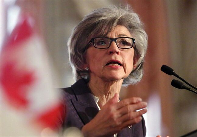 Beverly McLachlin, Chief Justice of the Supreme Court of Canada, delivers a speech in Ottawa, Tuesday, February 5, 2013. Canada's top justice says she is not concerned that a recent spat with Prime Minister Stephen Harper and Justice Minister Peter MacKay has eroded the respect of politicians for the courts. THE CANADIAN PRESS/Fred Chartrand