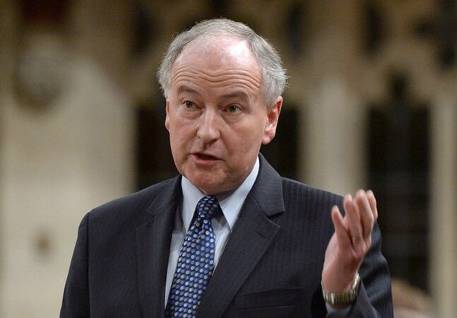 Defence Minister Rob Nicholson responds to a question during question period in the House of Commons on Parliament Hill in Ottawa on Thursday, May 29, 2014. THE CANADIAN PRESS/Sean Kilpatrick