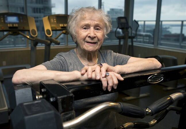 Olga Kotelko poses in Toronto on Wednesday, January 15, 2014. With her 95th birthday looming on March 2, Kotelko isn't inclined to look in the rear view at her accomplishments - she'd rather set fresh goals for the road ahead. THE CANADIAN PRESS/Frank Gunn