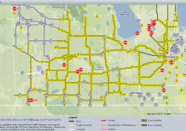 For up to date information on road conditions in Westman visit: http://www.gov.mb.ca/mit/roadinfo/ or click on the link below