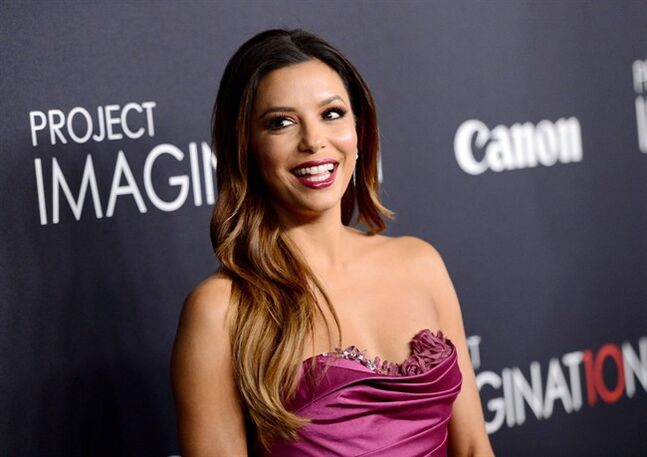 In this Oct. 24, 2013 file photo, actress Eva Longoria attends the global premiere of Canon's