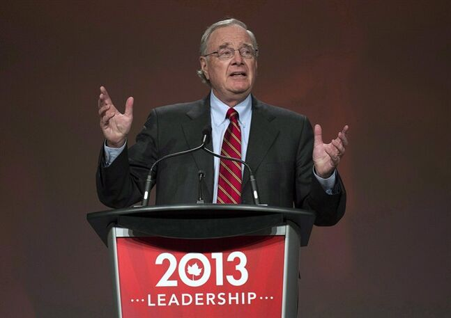 Former prime minister Paul Martin speaks during the 2013 Liberal Leadership National Showcase in Toronto on Saturday, April 6, 2013. Martin will be in Alberta on Tuesday to unveil a new entrepreneurship program for aboriginal youth. THE CANADIAN PRESS/Nathan Denette