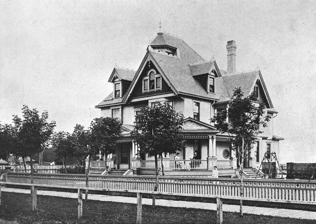 Hanbury House, which once stood at Fifth and Lorne (and was called