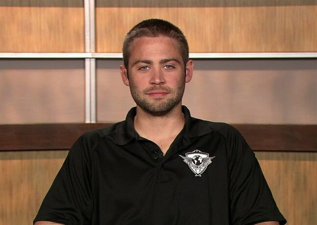 This image from video shows Cody Walker, brother of the late actor Paul Walker, during an interview Thursday, April 24, in Los Angeles. Paul Walker died from injuries suffered in a car crash on Nov. 30, 2013 in Valencia, Calif. (AP Photo/APTV)
