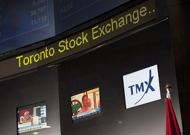 The Toronto Stock Exchange Broadcast Centre is shown in Toronto on June 28, 2013.THE CANADIAN PRESS/Aaron Vincent Elkaim