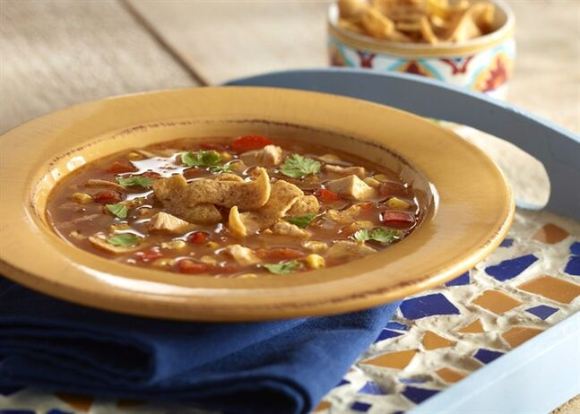 Chicken Tortilla Soup is a spicy soup that is quick to make. THE CANADIAN PRESS/HO- Foodland Ontario