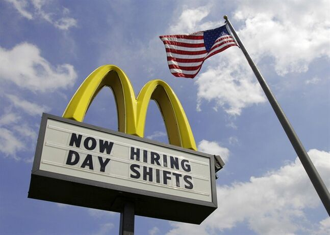 A McDonalds restaurant sign is pictured in Chesterland, Ohio on May 2, 2012. THE CANADIAN PRESS/AP, Amy Sancetta