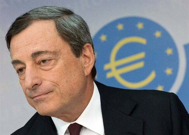 Head of the European Central Bank, ECB, Mario Draghi attends a news conference in Frankfurt, Germany, Thursday, Aug. 7, 2014. Draghi says the bank will
