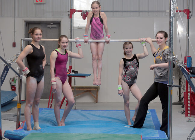 Brandon Eagles gymnasts Shea Taylor, Taylor Goodon, Quinn Skrupa, Brook Bradshaw and Alex Empey will be competing in the Western Canadian gymnastics championships in Saskatoon this week.