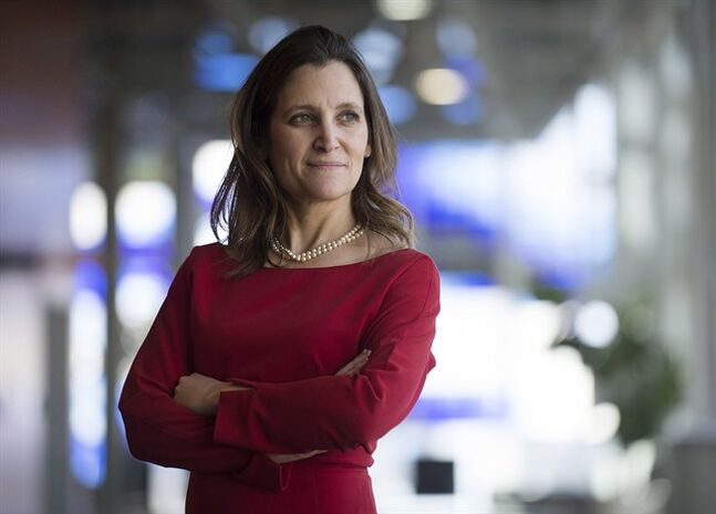 Federal Liberal MP Chrystia Freeland poses for a photograph on day three of the party's biennial convention in Montreal, Saturday, February 22, 2014. THE CANADIAN PRESS/Graham Hughes