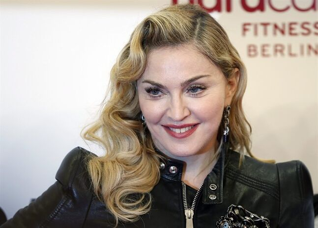 FILE - This Oct. 17, 2013 file photo shows U.S. pop star Madonna at the