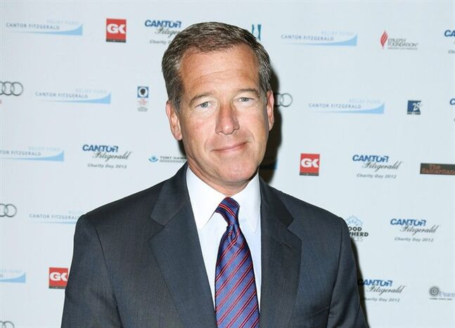 FILE - This Sept. 11, 2012 file image released by Starpix shows Brian Williams at the Cantor Fitzgerald Charity Day event in New York. Williams anchors