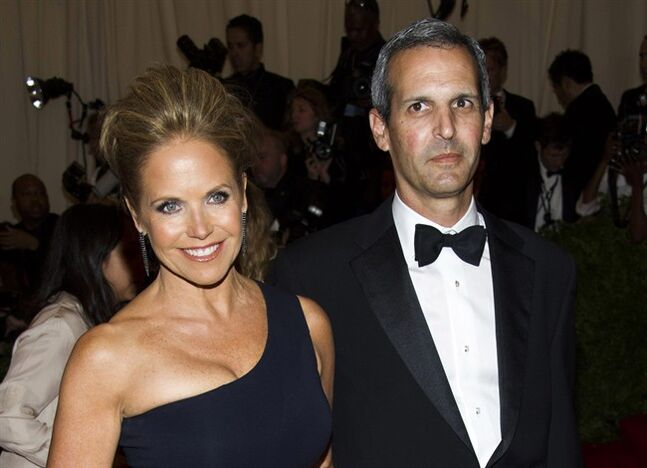 FILE - In this May 6, 2013, file photo, TV personality Katie Couric, left, and John Molner attend The Metropolitan Museum of Art's Costume Institute benefit celebrating