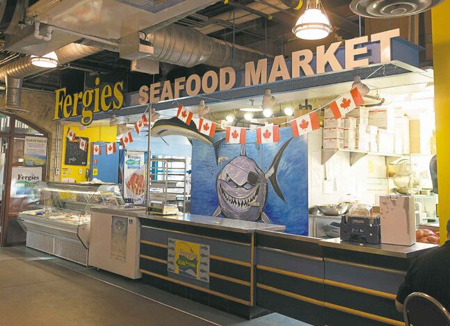 Fergie�s Seafood Market. Sarah Taylor / Winnipeg Free Press July 23, 2014