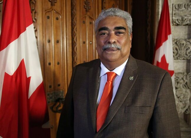 Jose Nunez-Melo, NDP MP for Laval, is shown outside the House of Commons on Parliament Hill in Ottawa, Tuesday June 10, 2014. Canada Day often holds a special meaning for people who emigrated to the country — sometimes under difficult circumstances — and MPs are no exception. THE CANADIAN PRESS/Fred Chartrand