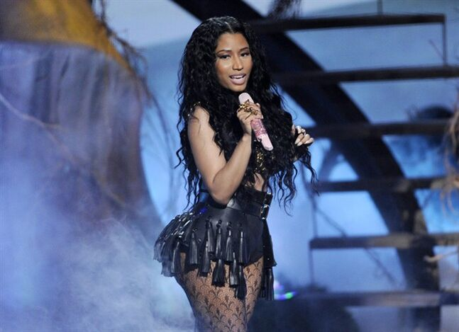 "FILE - This June 29, 2014 file photo shows singer Nicki Minaj performing at the BET Awards in Los Angeles. Minaj's ""Anaconda"" video has racked in 35 million views since its Tuesday, Aug. 19, release and has trended on Twitter throughout the week. (Photo by Chris Pizzello/Invision/AP, File)"