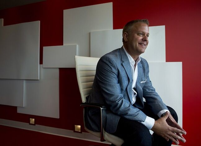 Mark Schindele, president of Target Canada, poses for a photograph in Toronto on Tuesday, August 12, 2014. THE CANADIAN PRESS/Nathan Denette