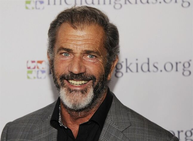 FILE - In this Feb. 14, 2014 file photo, actor-director Mel Gibson poses at the Mending Kids