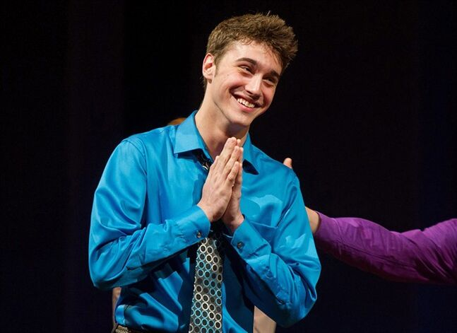 "FILE - This June 27, 2011 file photo shows Jimmy Award winner, Ryan McCartan onstage at The 3rd Annual National High School Theater Awards in New York. McCartan, who co-stars in ""Liv & Maddie"" on the Disney Channel and ""Royal Pains"" on USA, returns to the same Broadway stage where in 2011 he won the"
