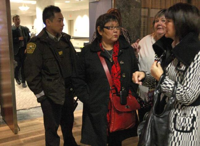 Delores Chief Abigosis (centre) testified she took Steve Sinclair at his word when he told her on July 6, 2001, that Phoenix was being well cared for by friends.