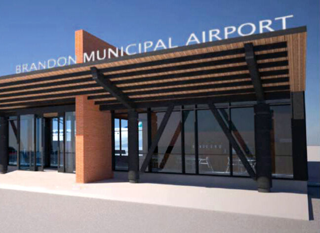 An artist's rendering of expansion plans at the Brandon airport.