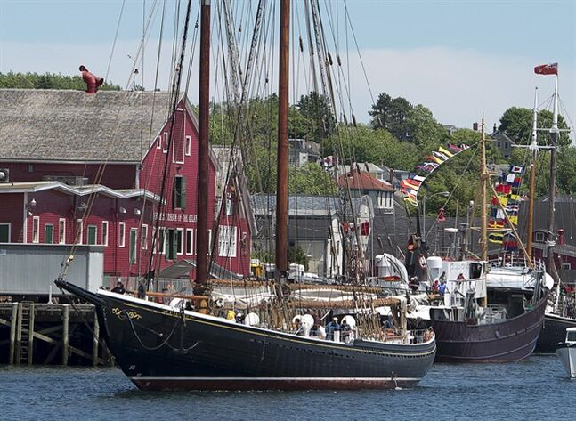 Bluenose II, Nova Scotia's sailing ambassador, heads to port in Lunenburg, N.S. after sea trials on Tuesday, June 24, 2014. The Bluenose II has been undergoing a multi-year restoration that's been plagued by budget overruns and repeated delays, the latest caused by a problem with the vessel's steering system. THE CANADIAN PRESS/Andrew Vaughan