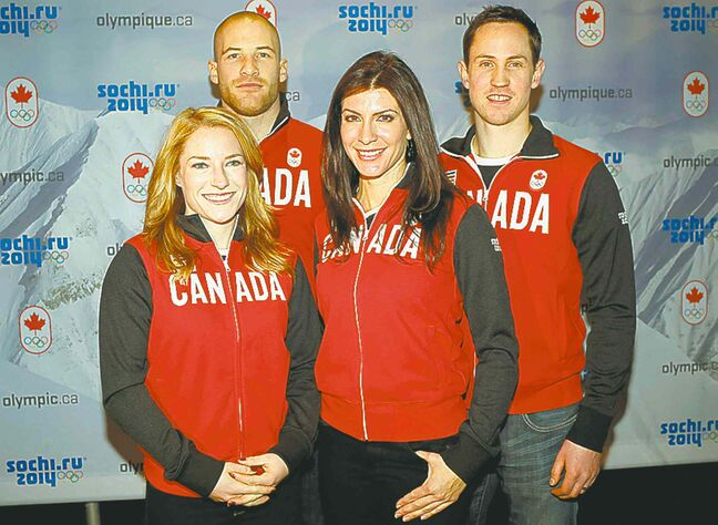 Named to the Canadian Olympic skeleton team Wednesday were: Sarah Reid  (clockwise from left), Eric Neilson, John Fairbairn and Mellisa Hollingsworth.