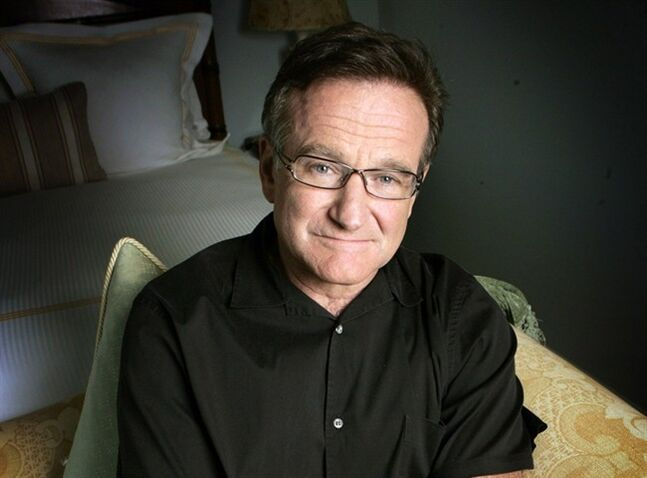 This June 15, 2007 file photo shows actor and comedian Robin Williams posing to promote his film,
