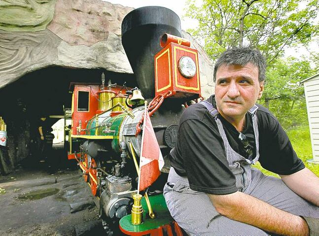 RUTH BONNEVILLE / WINNIPEG FREE PRESS The Assiniboine Park steam train's owner/operator Tim Buzunis says he may be forced to relocate.