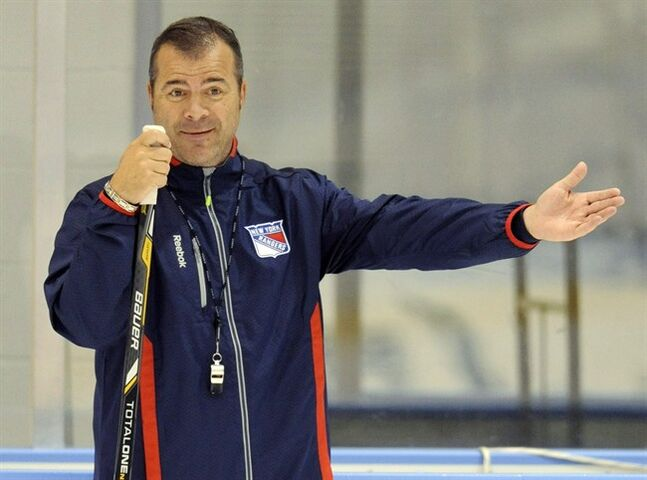 New York Rangers coach Alain Vigneault is pictured Sept. 13, 2013, in Greenburgh N.Y. THE CANADIAN PRESS/AP, Bill Kostroun
