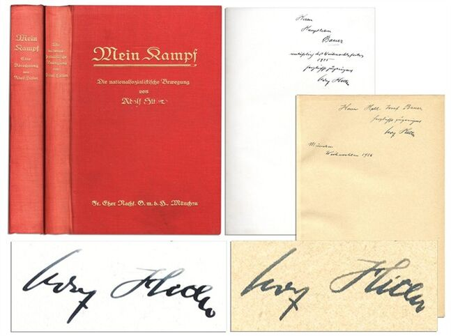 This undated image provided by Nate D. Sanders Auction shows the Adolph Hitler inscribed