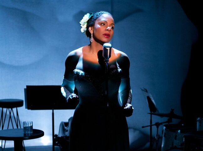 This photo provided by Jeffrey Richards Associates shows Audra McDonald as Billie Holiday in
