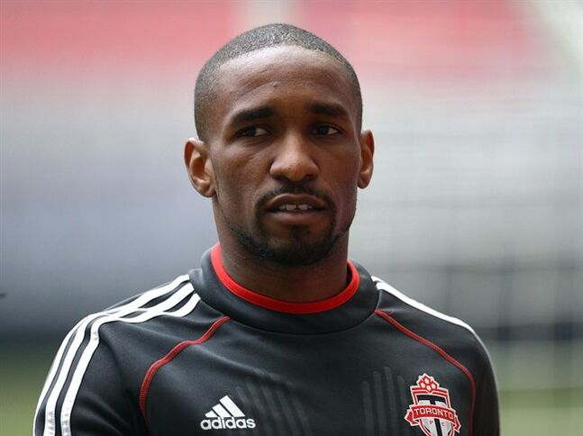 Toronto FC striker Jermain Defoe takes part in practice in Vancouver on Tuesday, May 13, 2014. Defoe says he still wants to be part of the England setup, despite the
