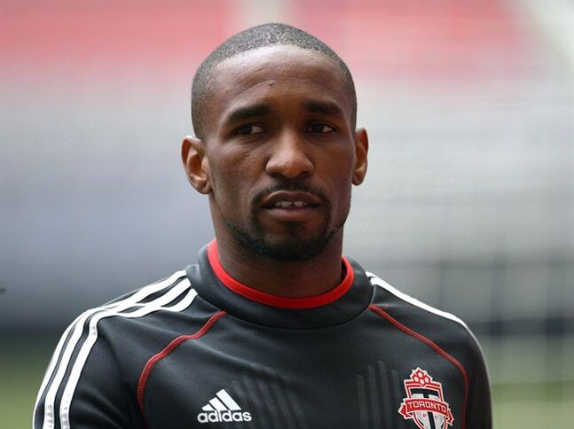 Toronto FC striker Jermain Defoe takes part in practice in Vancouver on Tuesday, May 13, 2014. English clubs are reportedly lining up to sign unsettled Toronto FC striker Defoe.THE CANADIAN PRESS/Jonathan Hayward