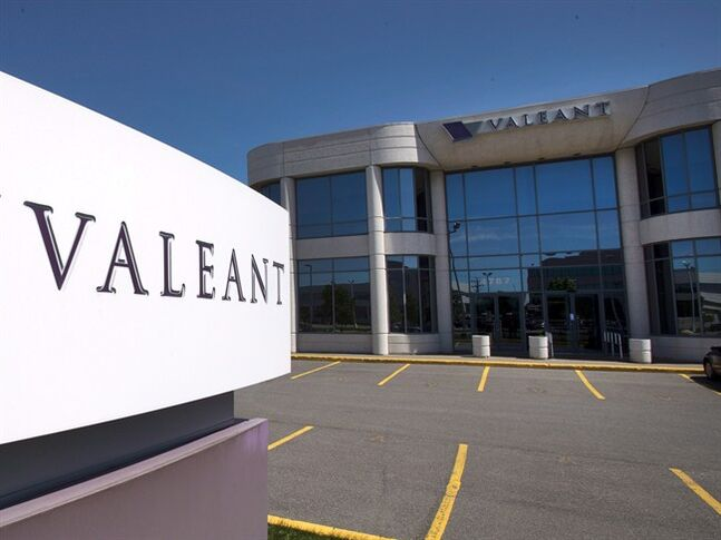 The head offices of Valeant Pharmaceutical is pictured in Montreal on Monday May 27, 2013. THE CANADIAN PRESS/Ryan Remiorz