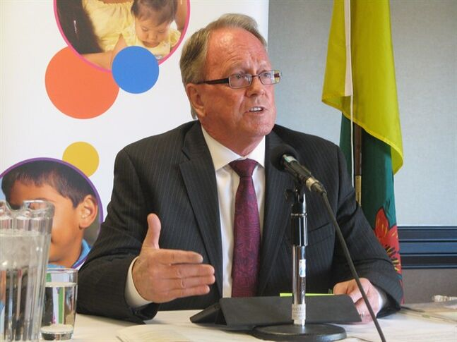 Bob Pringle speaks during a news conference in Regina on Wednesday May 14, 2014. Saskatchewan's children's advocate says a 10-year-old boy, who police say killed a six-year-old boy, probably should not have been in the community unsupervised. THE CANADIAN PRESS/Jennifer Graham