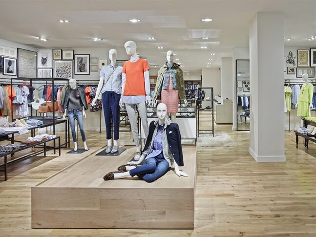 The interior of the J.Crew Bloor Street Collection Store is pictured in a handout photo, released on Friday February 14, 2014. THE CANADIAN PRESS/HO, Frank Oideman